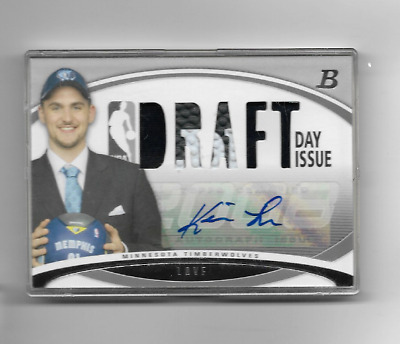 Kevin Love  2008 Bowman Draft Day Issue Rookie Jersey Basketball Hat Auto 21/75