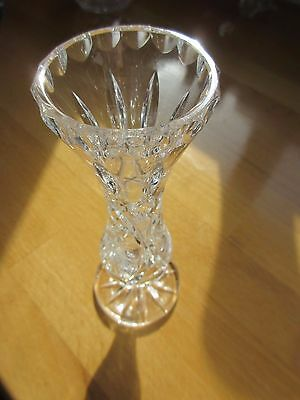 Glass vase Ornament.  cut glass vase small
