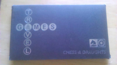 Authentics  Treavel Games  Magnetic Chess & Draughts Set With Box .