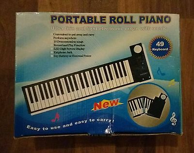 Portable Roll Piano 49 Keys Ideal for Kids