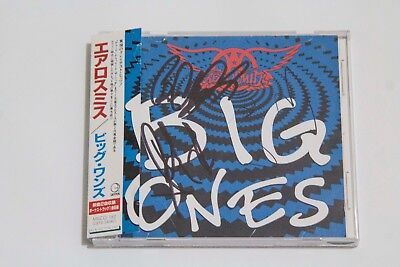 Aerosmith Signed Greatest Hits Japan Cd With Proof Steven Tyler Joe Perry