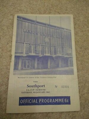 Leeds United V Southport Fa Cup Programme 1965/66