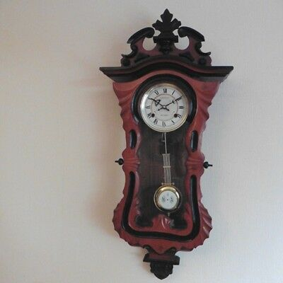 c1980s REPRODUCTION VICTORIAN STYLE STRIKING 31 DAY WIND UP WALL CLOCK