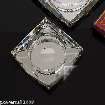 Creative High-Grade Luxury Shiny Crystal Glass Household Hotel Use Ashtray NN