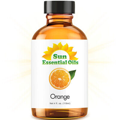 Best Sweet Orange Essential Oil 100% Purely Natural Therapeutic Grade 4oz