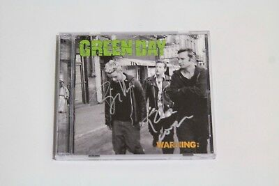 Green Day Signed Warning Cd Billy Joe Tre Cool No American Idiot