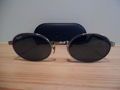 Vintage B & L Silver Oval Ray-Ban Side Street Sunglasses & Case W2187 OYAS