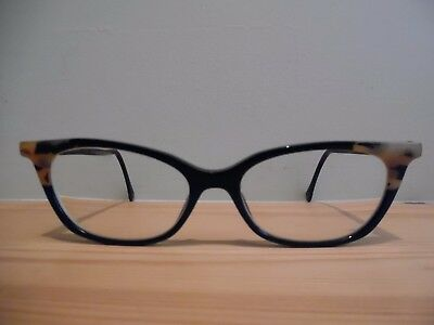 """Face a Face Black Oval/Cat """"COCCO"""" Hand Made Eye Glasses 3 54 16 140 Col 100"""