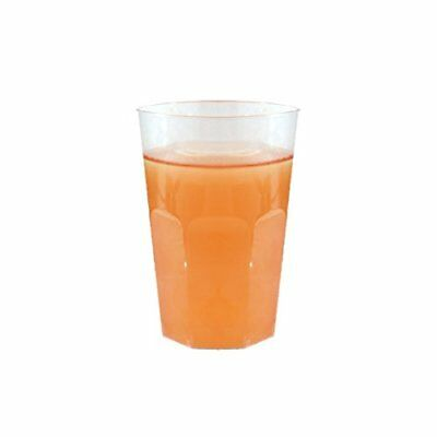 Posh Setting Crystal Clear 8 oz. Hard plastic Tumblers (cups) 40 Pack