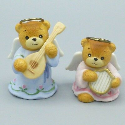 Set of 2 Enesco Lucy & Me Angel Bears Christmas Nativity Figurines Lucy Rigg