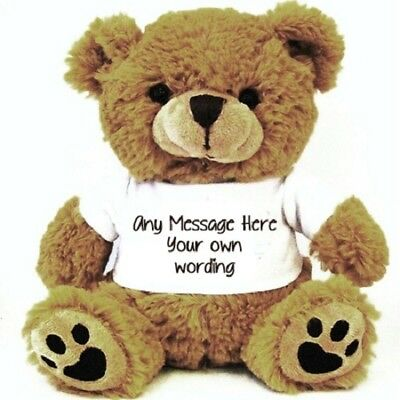 PERSONALISED Brown Teddy Bear with your wording, Wedding Birthday gifts
