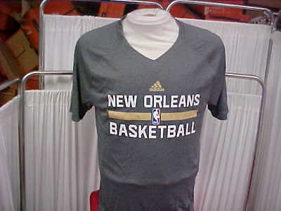 4e7667bdce4d New Orleans Pelicans Dark Gray V-Neck Adidas Short Sleeve Shooting Shirt Sz  XL+