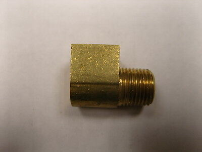 """Brass Fittings 90 Degree Inverted Flare Elbow Male Pipe 1/8"""" Tube OD 3/16"""" QTY 1"""