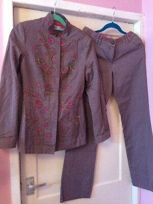 Gorgeous Boho Hippy Vintage Style Trouser Suit Size 10 By Butterfly