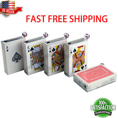Poker Card Shocking Lighter with Real Flame --US SELLER FAST FREE SHIPPING