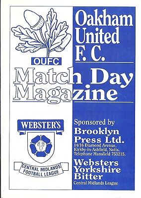 Oakham United V Derby County  - Pre Season - Fri 31St July 1992