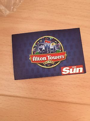 1 x ALTON TOWERS TICKETS  FOR TUESDAY 31ST OCTOBER