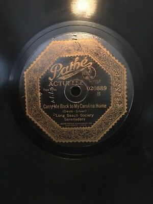 Pathe Records. Actuelle Needle Cut Record. Away Down East In Maine. Carry Me