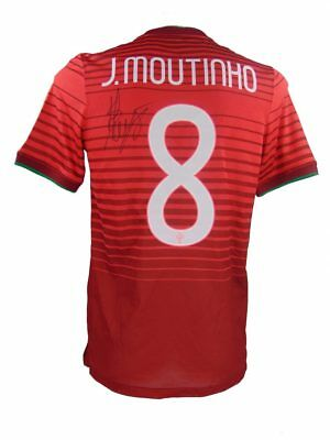 Joao Moutinho Signed Portugal World Cup Football Shirt+Photo Proof*see Him Sign*