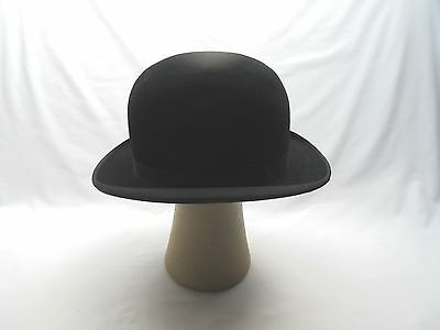 Vintage? old worn Bowler hat for clown fancy dress stage costume .