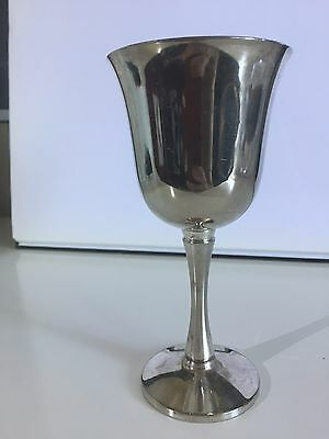 Vintage Silver Plated Wine Glass/ Footed Cup Glass Portugal