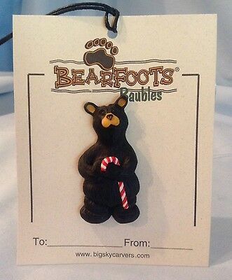 Big Sky Carvers Bearfoots Baubles Bear with Candy Cane Pin Jeff Fleming  $5.99
