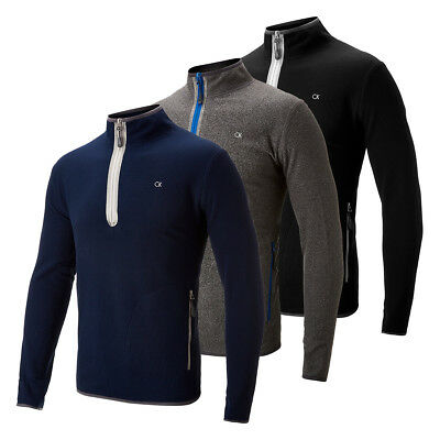 Calvin Klein Golf 1/4 Zip Fleece Pullover Sweater 67% OFF RRP