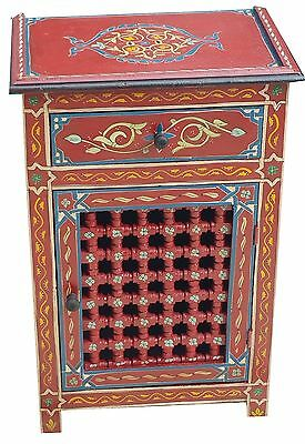 Moroccan Night Stand Table Wood Armoire Moorish Middle East Mediteranean Dresser