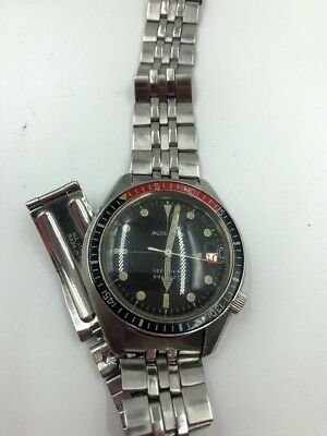 Vintage Bulova Accutron Wrist Watch Deep Sea 666 Feet