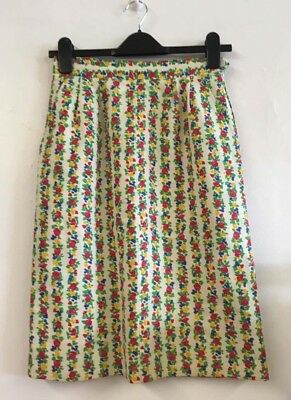 Yves Saint Laurent Vintage 80s/90s Floral Pencil Skirt Size 38 Uk 8-10