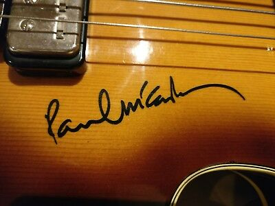 Paul McCartney sign vinyl sticker decal for Hofner Bass or Guitar