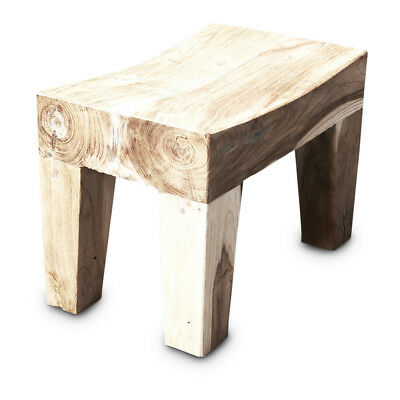 NEW Arzu Mini Curved Side Table In Rustic Finish