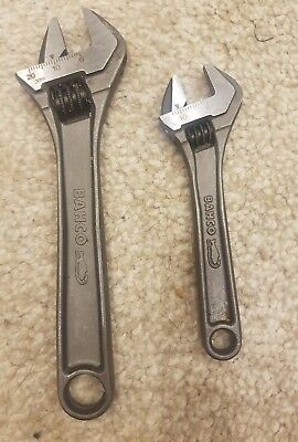 set of 2 Bahco ajustable spanners