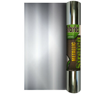 Metallic Stretch 220mm x 500mm - Heat Transfer Iron On Vinyl HTV Portrait
