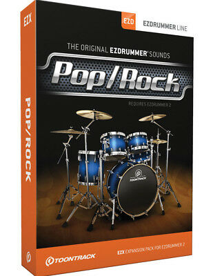 Toontrack EZX Pop/Rock Expansion for EZ Drummer 2 or Superior Drummer 2/3