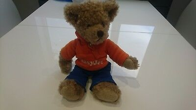 Easyjet Russ Gulliver Bear Soft Toy Teddy Easy Jet Cuddly Orange Fleece