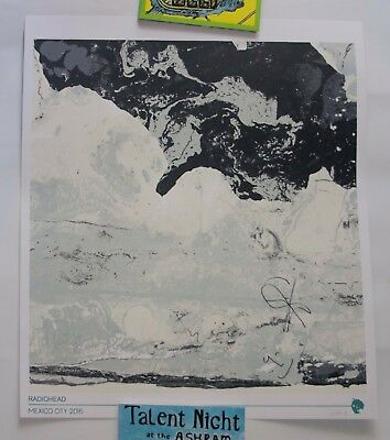 Radiohead Signed Limited Ed Tour Poster Thom Yorke Jonny Greenwood Phil Ed Colin
