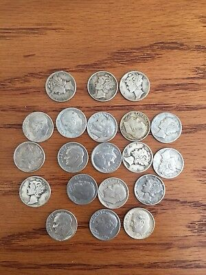 Silver Dimes - Assorted Lot of 20