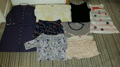 Hobbs-Pink-Fat Face-Hollister-Monsoon-White Stuff Ladies Clothing X 8 Joblot