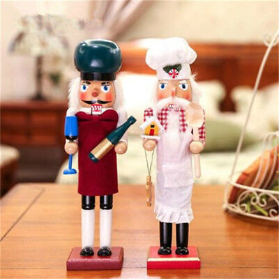 Handmade Home Decor Ornaments Gift Walnut Soldiers Christmas Wooden Nutcracker