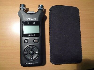 TASCAM DR-07 MKII PCM Recorder - SD Card - Pouch