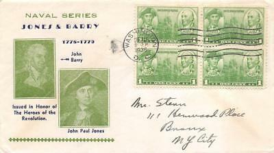 790 1c Navy, First Day Cover Cachet [D279988]