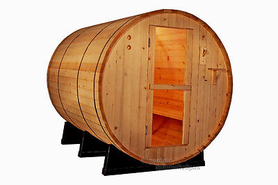 NEW 6' Ft Canadian RED CEDAR Barrel Sauna WET / DRY SPA  4 Person Size!  Outdoor