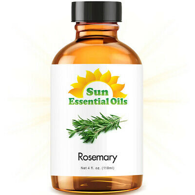 Rosemary Essential Oil (Large 4oz) 100% Pure Amber Glass Bottle + Dropper