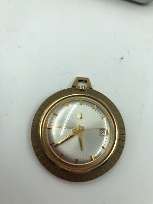 Vintage Bulova Accutron Pocket Watch 14k