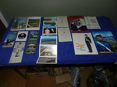 Large Lot of Vintage 1960s USAF Air Force Academy Brochures Postcards ETC  NR