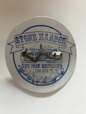 Stone Harbor THE PAST REVISITED Beach Tag 1914-1989 New Jersey NJ Shore Vintage