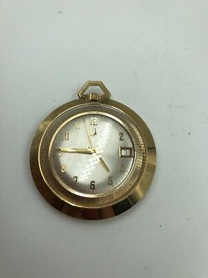Vintage Bulova Accutron Pocket Watch 14k G.F