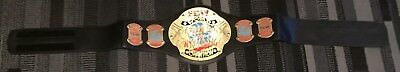 Wwe early version of ecw belt metal plates kids size very rare velcro