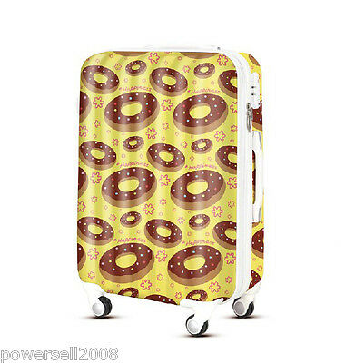 "28"" TSA Lock Universal Wheel Yellow Donuts ABS+PC Travel Suitcase Luggage"